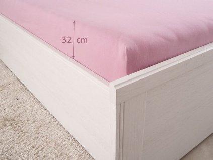 Natahovací prostěradlo z bavlny s elastanem Luxus lila 180x200 (180g/m2)