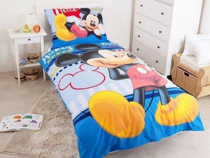 Povlečení Mickey Hello 140x200