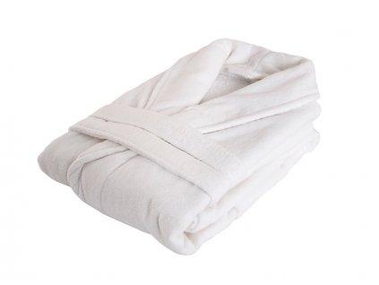 Příjemně hebký bavlněný župan Hotel bílá velikost XXL
