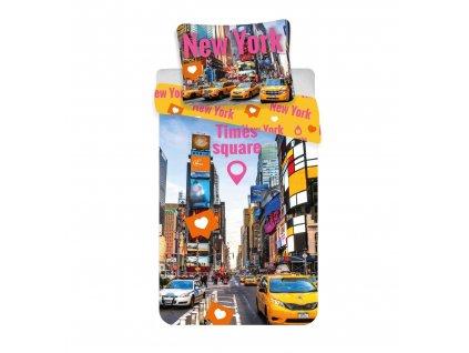140 x 200 cm -  Bavlněné povlečení 140x200 + 70x90 cm - Times Square