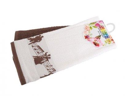 4133 duopack kuchynskych uterek z bavlny noty hneda 40x60 cm