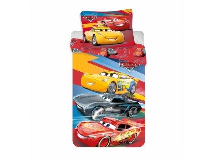 Licenční dětské povlečení Cars červená 140x200