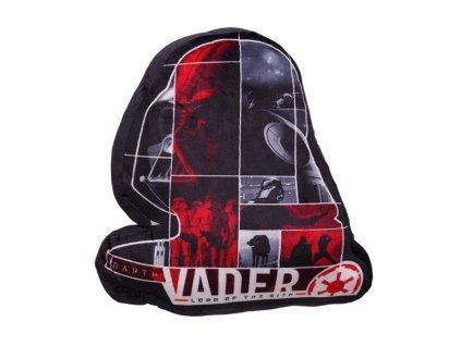 Mikroplyšový dekorační polštářek tvarovaný Dart Vader