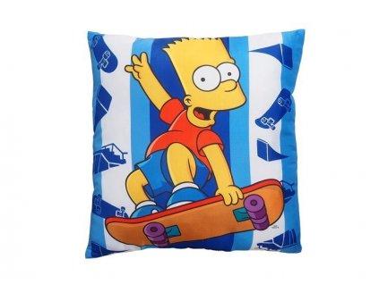 Dekorační polštářek Bart Simpson skater 40x40