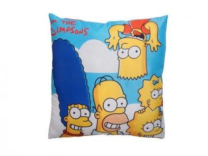 Dekorační polštářek 40x40 cm - Simpsonovi v oblacích