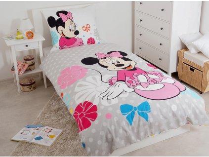 Dětské bavlněné povlečení Minnie Pinkie 140x200