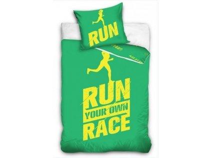 Povlečení Licenční perkálové Run Race Zelené 140x200