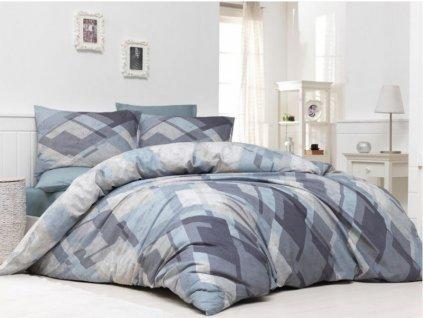 140 x 200 cm - BedTex povlečení MOSAIC BÉŽOVÉ geometrie bavlna hladká 140x200 70x90