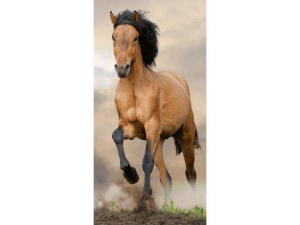 4937 bavlnena frote osuska 70x140 cm kun horse brown