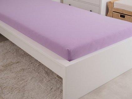 4961 1 prosteradlo jersey cesana bavlna mako 90x200 cm fialova