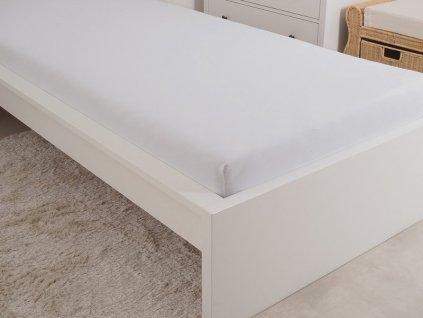 Kvalitní prostěradlo z mako bavlny bílá 90x200