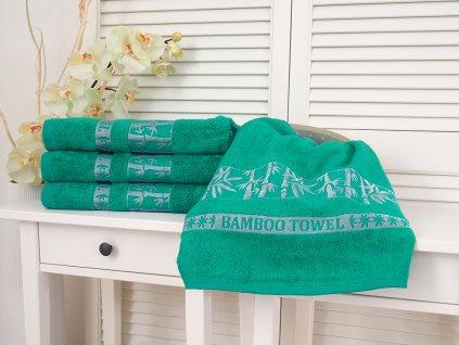 5201 1 bavlnena frote osuska 70x140 bamboo green