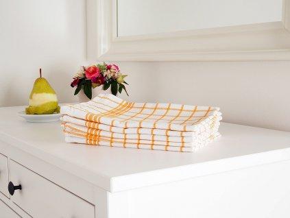 Kuchyňská utěrka MONA žlutá 50x70