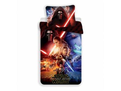 Dětské jemné povlečení se zipem z mikrovlákna Star Wars TFA 140x200