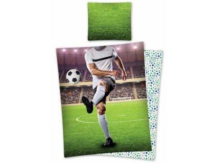 Fotbalistické bavlněné povlečení se zipem Fotbalista 140x200
