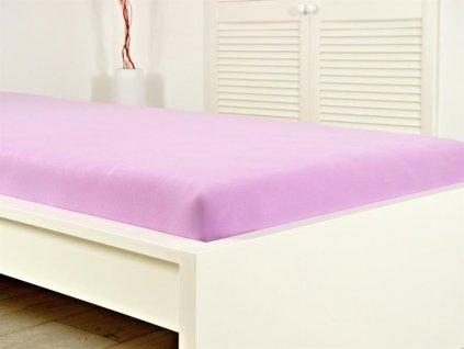 Prostěradlo Jersey česaná bavlna MAKO 140-160x200 cm - Fialová