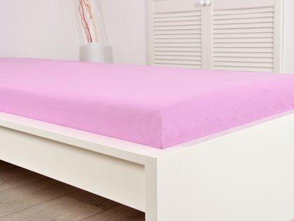 Froté prostěradla -  Froté elastické prostěradlo 180x200 cm (160g/m2) - sv.růžové (11)