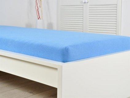 Froté prostěradla -  Prostěradlo Froté IDEAL 90x200 cm - Nebeská modrá