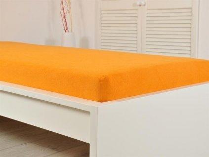 Froté prostěradla -  Froté prostěradlo 180x200 oranžová (160g/m2)