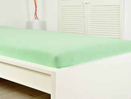 Kvalitní prostěradlo jersey s gumou zelená 90x200 (135g/m2)