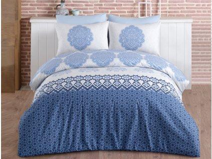 TipTrade -  bavlna Povlečení Trevi Modré 50x70 140x200 70x90