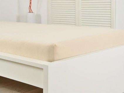Napínací jersey prostěradlo bílá káva 90x200 (135g/m2)