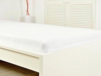 Bílé prostěradlo jersey na dvoulůžko 180x200 (135g/m2)
