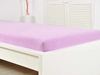Jersey prostěradlo elastické fialové 180x200 (135g/m2)