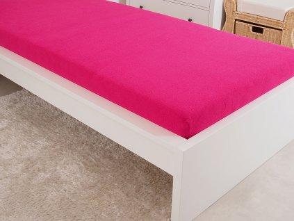 Froté elastické prostěradlo 180x200 cm (160g/m2) - fuchsiové (47)
