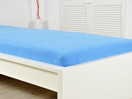 776 prosteradlo jersey bavlna ideal 180x200 cm nebeska modra