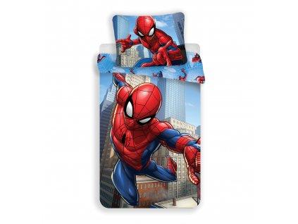 Dětské jemné povlečení se zipem z mikrovlákna 140x200 - Spiderman blue