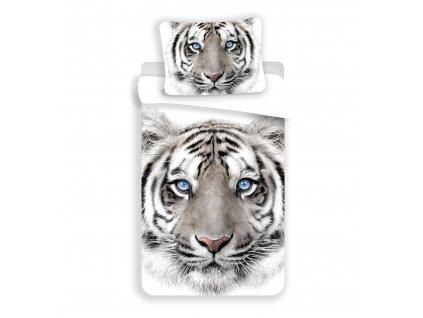 140 x 200 cm -  Bavlněné povlečení 140x200 + 70x90 cm - Bílý tygr