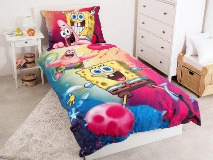 Bavlněné dětské povlečení Sponge Bob 140x200