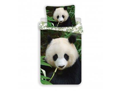 Bavlněné povlečení 3D fototisk se zipem 140x200+70x90  - Panda 02