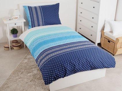 Luxusní bavlněné povlečení Summer Modré 140x200