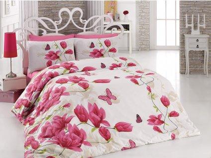 Luxusní povlečení bavlna Renforcé Alize Pink 140x200 + 70x90+50x70