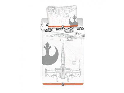140 x 200 cm -  Povlečení bavlna Star Wars 9 vehicles 140x200 70x90