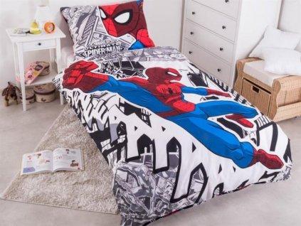 Povlečení Spiderman bavlna černobílá 140x200 cm