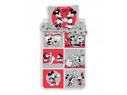 Bavlněné dětské povlečení Mickey a Minnie classics 140x200+70x90