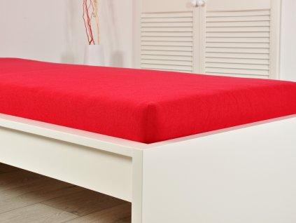 B.E.S. Petrovice -  Prostěradlo FROTÉ do postýlky 60x120 cm – Červená