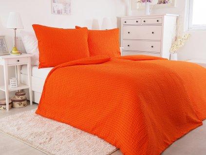 Luxusní mikrokrepové nežehlivé povlečení 140x200 - orange