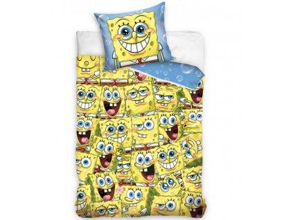 Povlečení bavlněné licenční 140x200 +70x90 - Sponge Bob Kam se podíváš