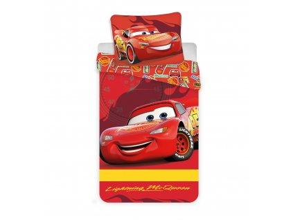 Licenční povlečení do dětské postýlky bavlna Cars baby McQueen100x135