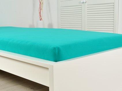 Froté prostěradla -  Prostěradlo Froté PERFECT 140-160x200 cm – Zelený tyrkys