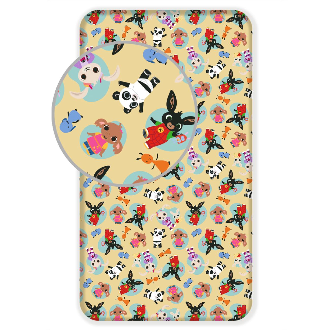 Jerry Fabrics Bavlněné licenční prostěradlo 90x200 s gumou - Bing 051