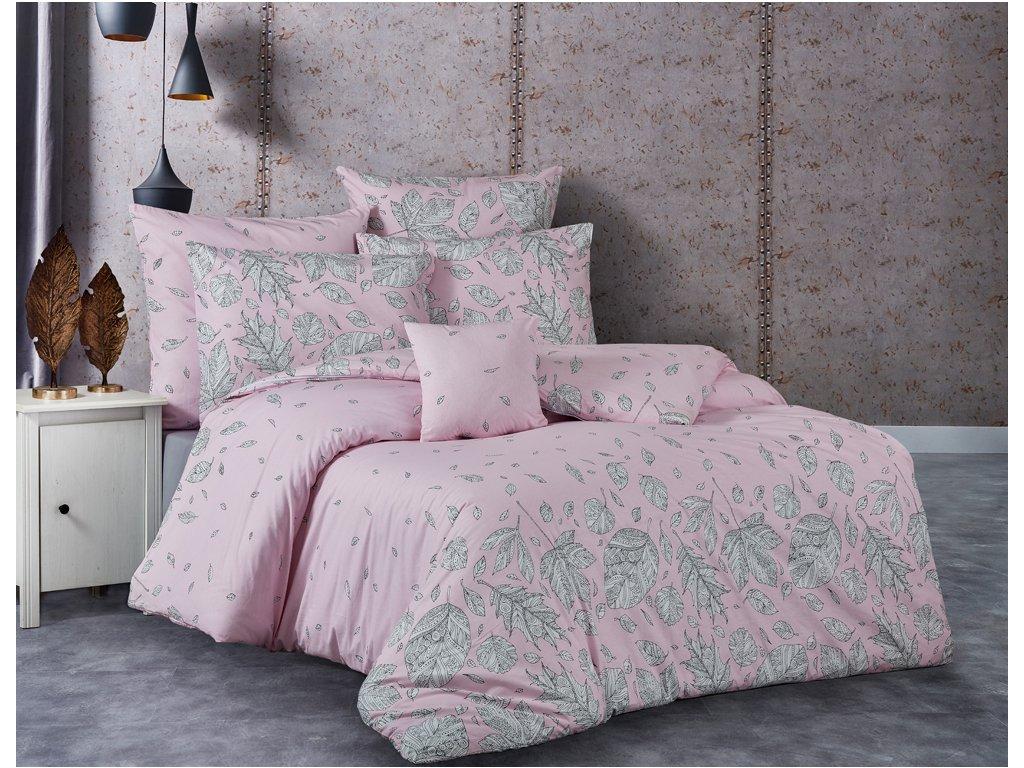 TipTrade Bavlněné povlečení 140x200 + 70x90 cm - Hosttid růžové