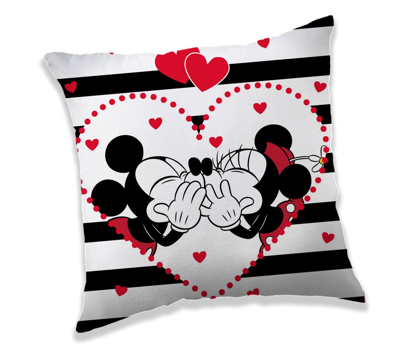 TipTrade Dekorační polštářek 40x40 cm - Mickey a Minnie Stripes