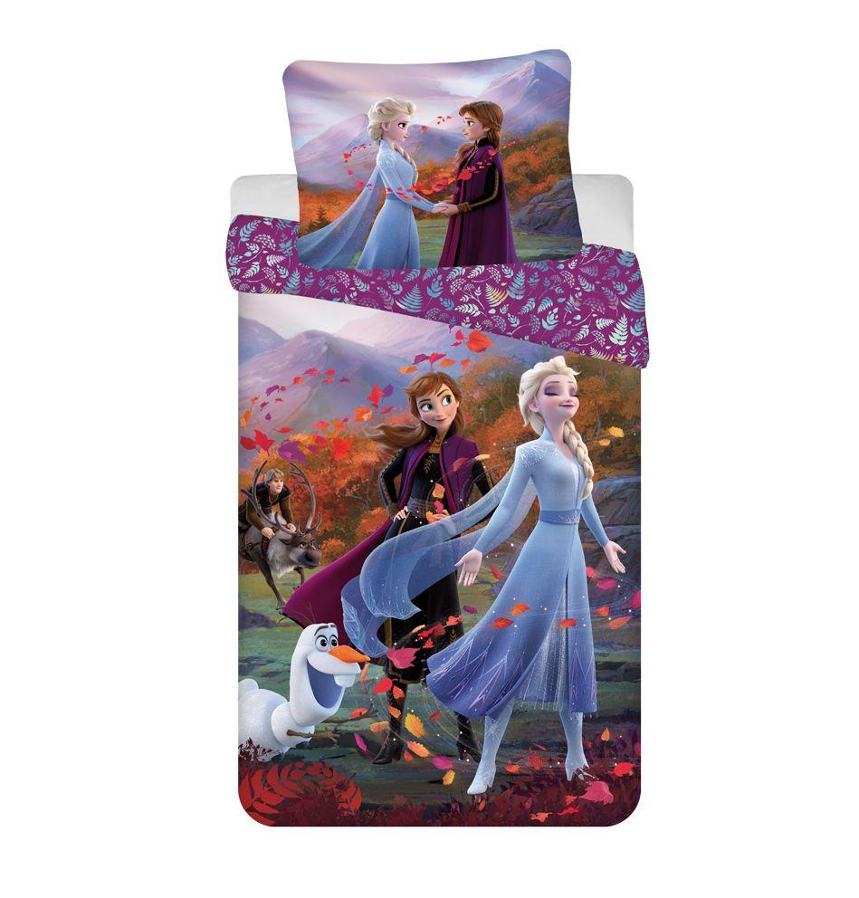 """Jerry Fabrics Bavlněné povlečení 140x200 + 60x80 cm - Frozen 2 """"Wind"""""""