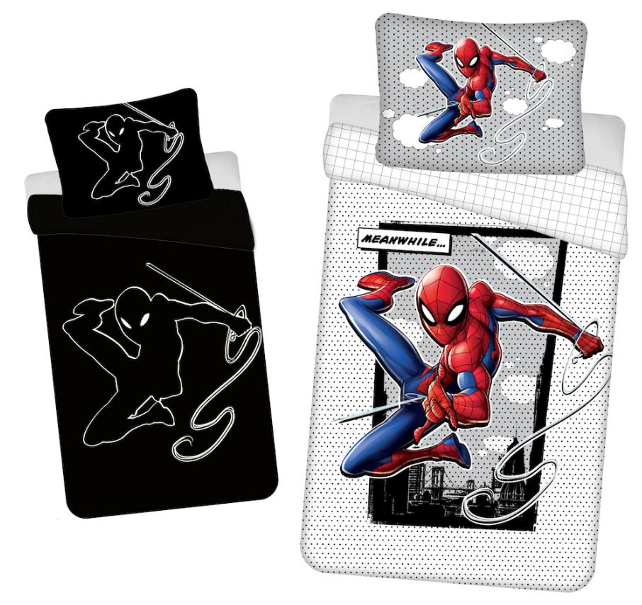 """Jerry Fabrics Bavlněné povlečení se svítícím efektem 140x200 + 70x90 cm - Spider-man """"02"""""""