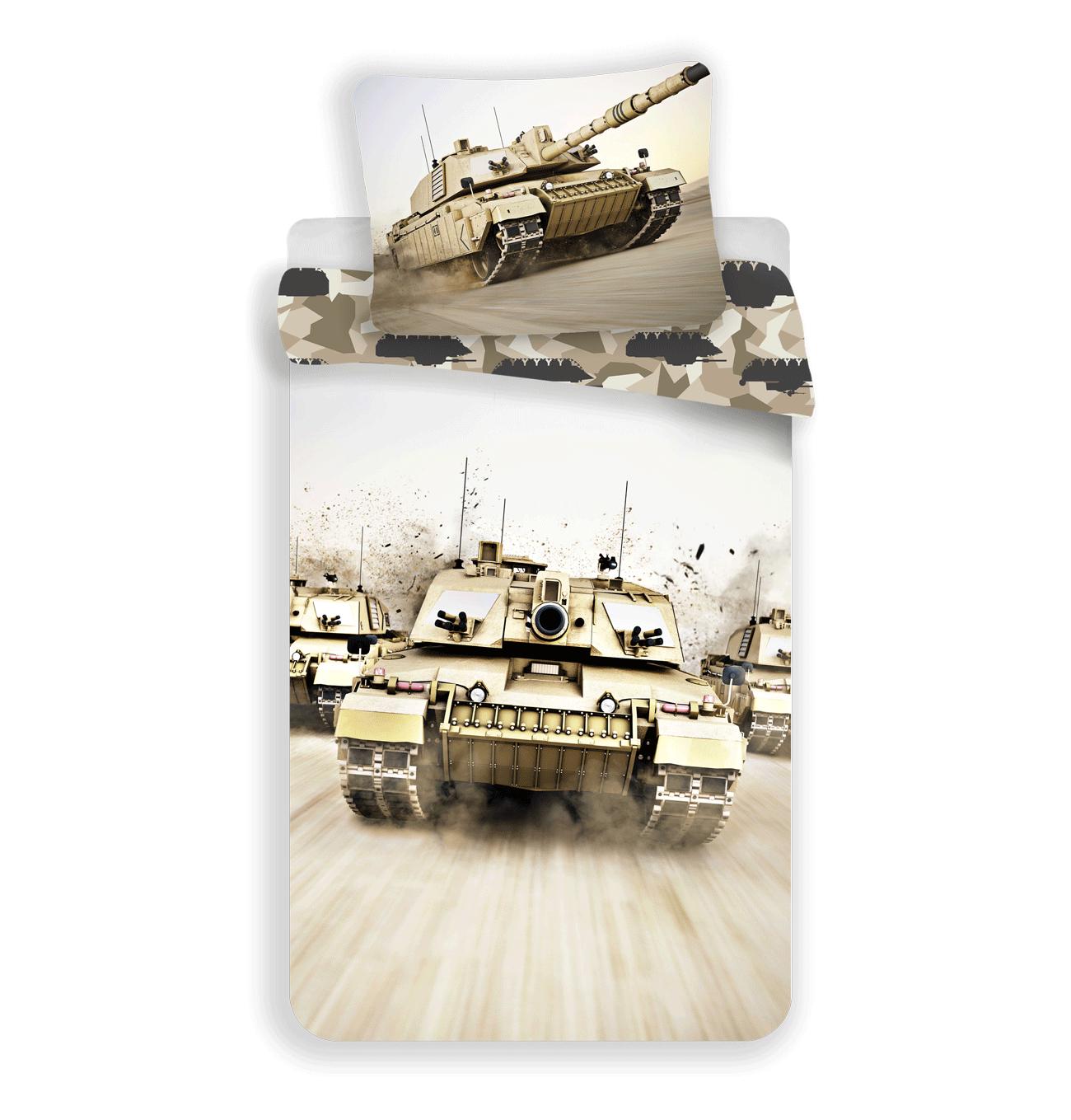 Jerry Fabrics Bavlněné povlečení 140x200 + 70x90 cm - Tank